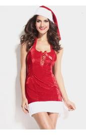 Новогоднее платье со шнуровкой