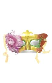 Карнавальная маска с цветком