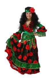 Детский зеленый костюм цыганки