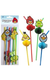 Соломинки для коктейля Angry Birds