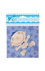 Голубые салфетки С днем рождения
