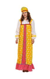 Желтый костюм Аленушки для взрослых