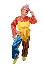Яркий костюм скомороха