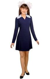 Платье школьницы синее