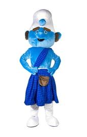 Ростовая кукла смурфика-шотландца