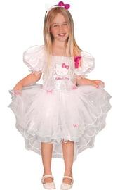 Детской белое платье с Кошечкой