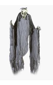 Подвесной скелет в серых лохмотьях 150 см