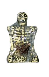 Надгробие Скелет желтый