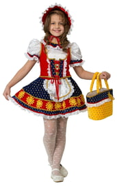Детский костюм сказочной Красной Шапочки