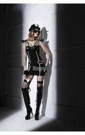 Латексный костюм секси полицейской