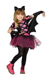 Черно-розовый костюм летучей мыши