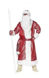 Блестящий красный костюм Деда Мороза
