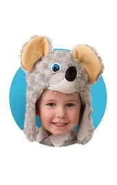 Меховая шапочка-маска Мышка
