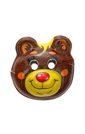 Пластиковая маска Медведь