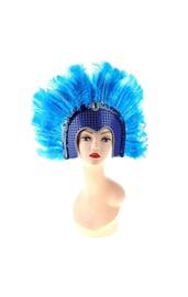 Голубой венецианский головной убор