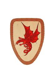 Деревянный щит с Драконом