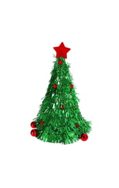 Шапочка Новогодняя елочка из мишуры