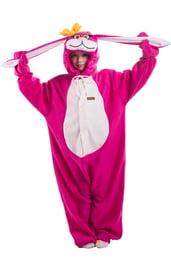 Детская пижама кигуруми Розовый заяц