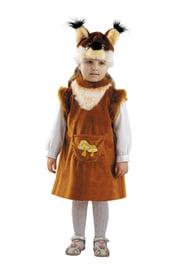 Десткий костюм девочки бельчонка