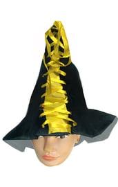 Колпак ведьмы с желтыми завязками