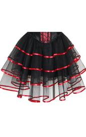 Пышная юбка с красной лентой