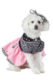 Розовое платье для собаки
