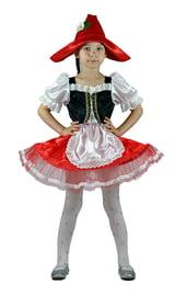 Детский костюм Красной Шапочки с ромашкой