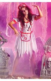 Разорванный костюм зомби медсестры
