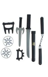 Черный набор оружия ниндзя