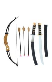 Черно-золотой набор оружия ниндзя