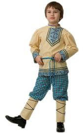 Синий славянский костюм для мальчика