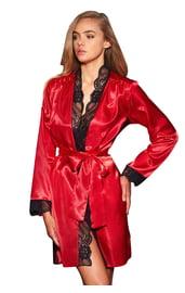 Длинный красный халат