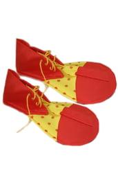Взрослые ботинки клоуна в горох