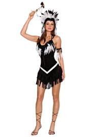 Черно-белый костюм Индианки