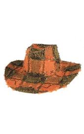 Оранжевая ковбойская шляпа