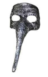 Серебряная маска с длинным носом