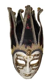 Венецианская маска с красным рисунком