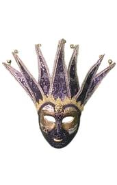 Черная венецианская маска с узором