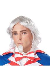 Белый парик и бородка дяди Сэма