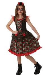 Подростковый костюм Скелета Катрины