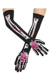 Взрослые перчатки на День мертвых