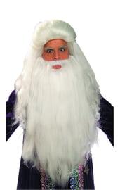 Белые борода и парик волшебника
