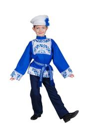 Детский народный костюм мальчика Гжель