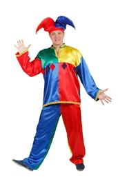 Взрослый костюм разноцветного Скомороха