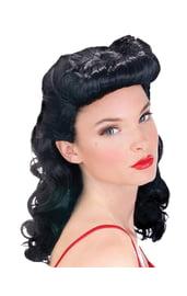 Черный ретро парик из 50-х