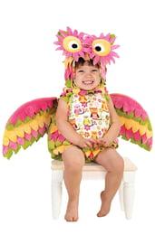 Костюм яркой совы для малыша