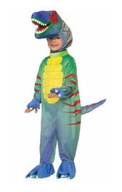 Детский костюм зеленого динозавра