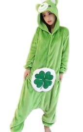 Кигуруми Зеленый мишка с клевером