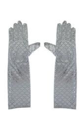 Серебряные перчатки с чешуей