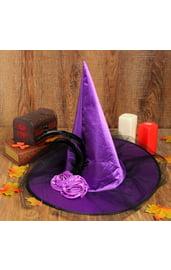 Взрослая фиолетовая шляпа ведьмы